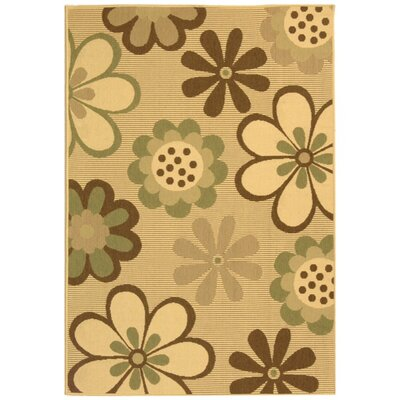 Short Natural Brown/Olive Outdoor Rug Rug Size: Rectangle 53 x 77