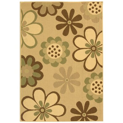 Welby Natural Brown/Olive Outdoor Rug Rug Size: 67 x 96