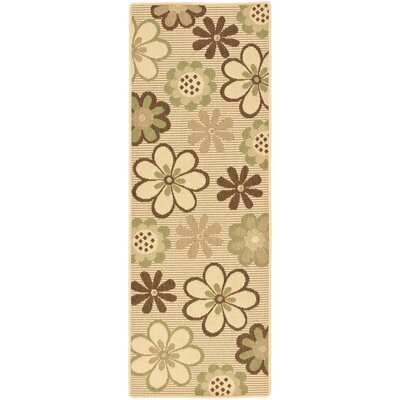 Short Natural Brown/Olive Outdoor Rug Rug Size: Rectangle 27 x 5