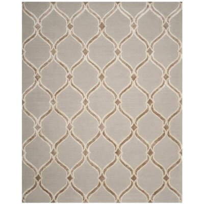 Garrison Hand-Tufted Taupe/Ivory Area Rug Rug Size: Rectangle 8 x 10