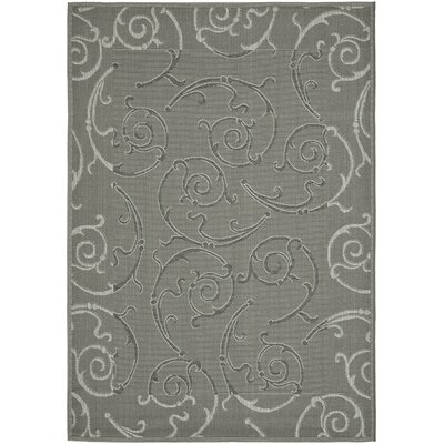 Short Anthracite / Light Grey Indoor/Outdoor Rug Rug Size: 53 x 77