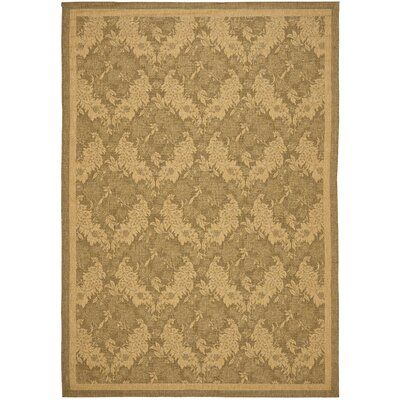 Short Light Gold Outdoor Rug Rug Size: Rectangle 4 x 57