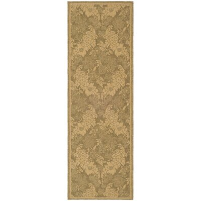 Welby Light Gold Outdoor Rug Rug Size: Runner 27 x 5