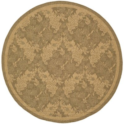 Welby Light Gold Outdoor Rug Rug Size: Round 67