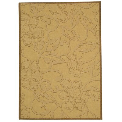 Short All Over Dark Tan Outdoor Rug Rug Size: Rectangle 67 x 96