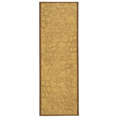 Short All Over Dark Tan Outdoor Rug Rug Size: Rectangle 27 x 5
