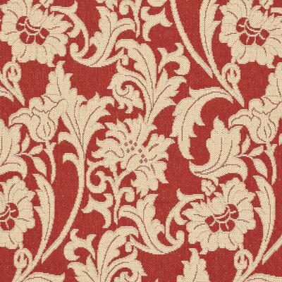 Welby Red / Creme Outdoor Area Rug Rug Size: Runner 27 x 5