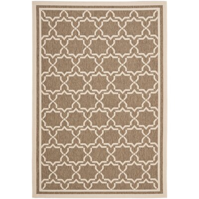 Welby Brown/Bone Indoor/Outdoor Rug Rug Size: 67 x 96