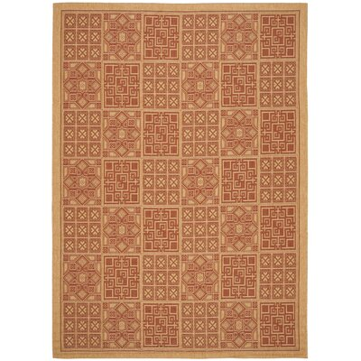 Welby Dark Brick Outdoor Rug Rug Size: 4 x 57