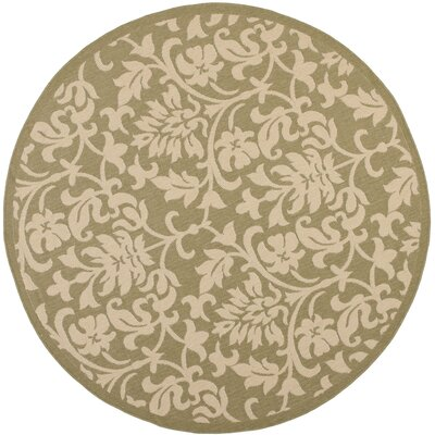 Short Olive / Natural Indoor/Outdoor Rug Rug Size: Square 67