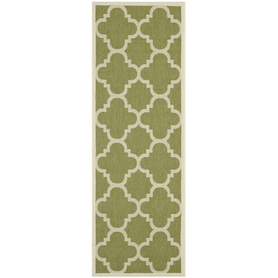 Short Green Area Rug Rug Size: Runner 23 x 12