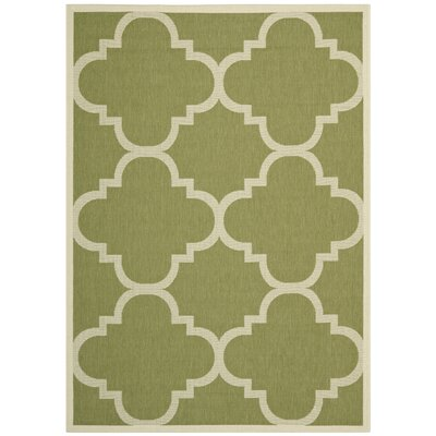 Short Green Area Rug Rug Size: Rectangle 53 x 77