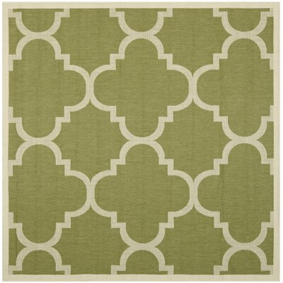 Short Green Area Rug Rug Size: Square 4