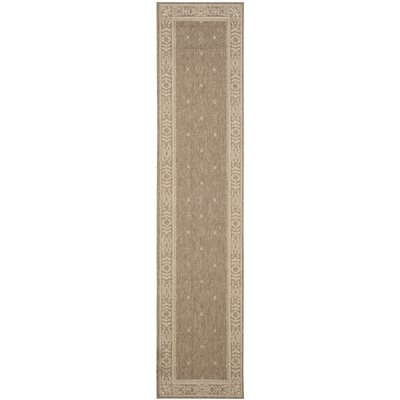 Short Brown Outdoor Area Rug Rug Size: Runner 23 x 10