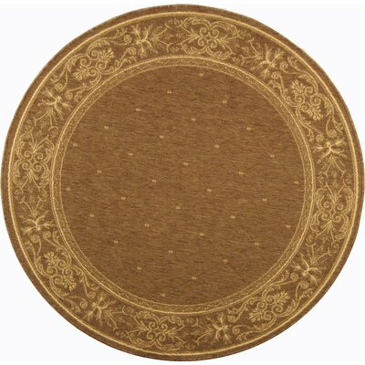 Welby Brown Outdoor Area Rug Rug Size: Round 710