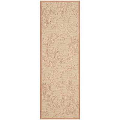 Welby All Over Neutral Outdoor Area Rug Rug Size: Runner 24 x 911