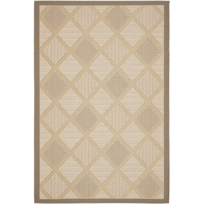 Short Beige / Dark Beige Woven Indoor/Outdoor Rug Rug Size: Rectangle 4 x 57