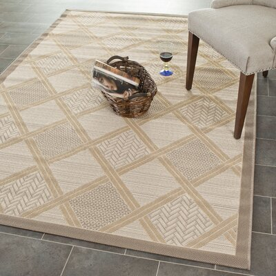Short Beige / Dark Beige Indoor/Outdoor Nice Rug Rug Size: Rectangle 53 x 77