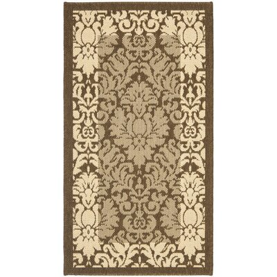 Short Natural/Brown Outdoor Area Rug Rug Size: 53 x 77