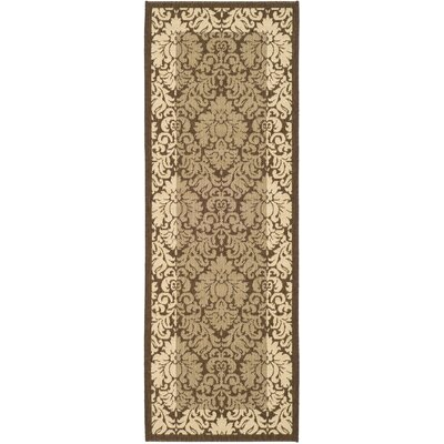 Short Natural/Brown Outdoor Area Rug Rug Size: Runner 24 x 67