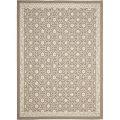 Short Dark Beige Indoor/Outdoor Area Rug Rug Size: Rectangle 53 x 77