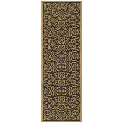 Welby Dark Black Outdoor Rug Rug Size: Runner 24 x 67