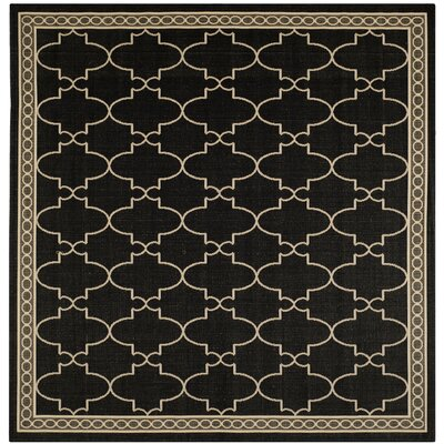Short Black & Sand Checked Area Rug Rug Size: Square 710