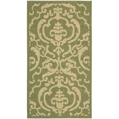 Welby Olive/Natural Outdoor Rug Rug Size: 67 x 96