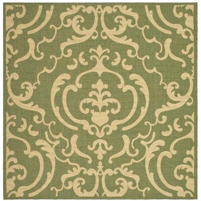 Short Olive/Natural Outdoor Rug Rug Size: Square 67