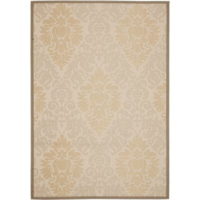 Short Beige / Dark Beige Indoor or Outdoor Rug Rug Size: 53 x 77