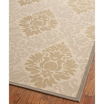 Short Beige Indoor/Outdoor Rug Rug Size: Rectangle 4' x 5'7