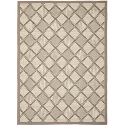 Short Beige / Dark Beige Indoor/Outdoor Suitable  Rug Rug Size: Rectangle 4' x 5'7
