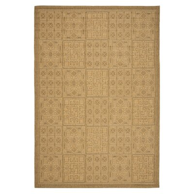 Short Gold / Natural Outdoor Area Rug Rug Size: Runner 27 x 82