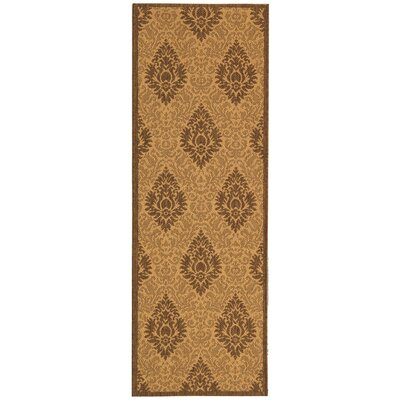 Short Transitional Durable Outdoor Rug Rug Size: Runner 24 x 67