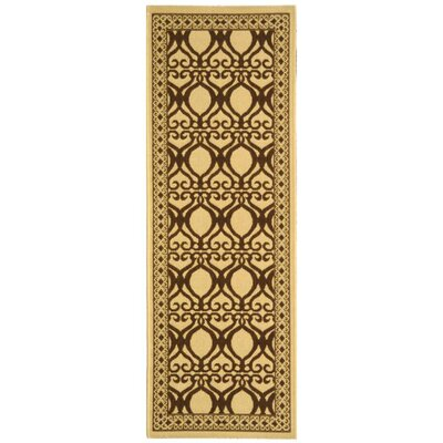 Short Natural/Brown Outdoor Rug Rug Size: Rectangle 27 x 5