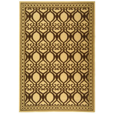 Short Natural/Brown Outdoor Rug Rug Size: Rectangle 53 x 77