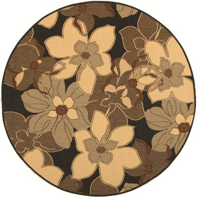 Welby Natural/Brown Rug Rug Size: Round 53