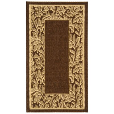 Short Brown / Natural Outdoor Runner Rug Rug Size: 2-7 X 5