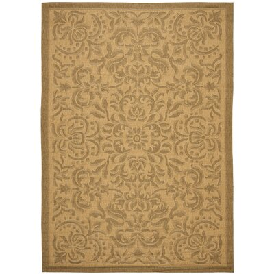 Short Light Natural Outdoor Rug Rug Size: Rectangle 8 x 112