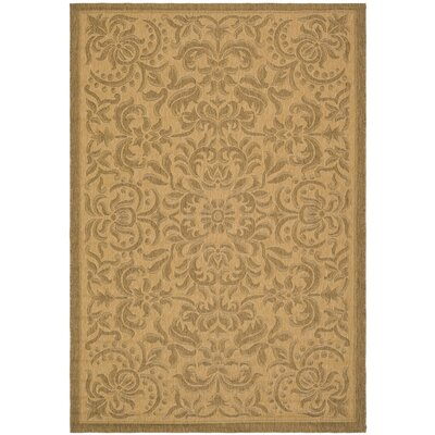 Short Light Natural Outdoor Rug Rug Size: Rectangle 4 x 57