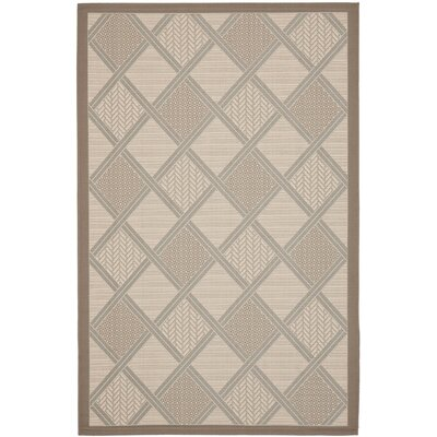 Short Beige / Dark Beige Indoor/Outdoor Nice Rug Rug Size: Rectangle 4 x 57