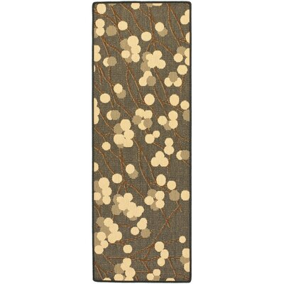 Short Black Natural/Brown Rug Rug Size: Runner 24 x 67