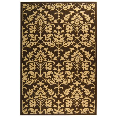 Welby Chocolate / Natural Outdoor Area Rug Rug Size: Runner 23 x 10