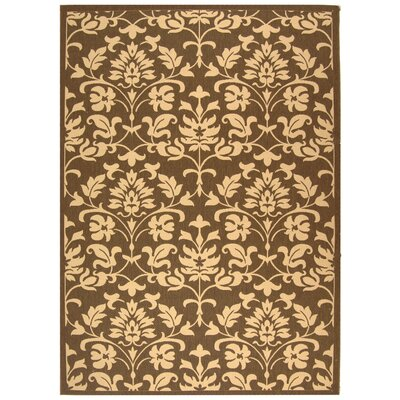 Short Classic Chocolate / Natural Outdoor Area Rug Rug Size: 53 x 77
