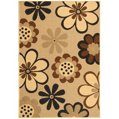 Welby Natural Brown/Black Rug Rug Size: 67 x 96
