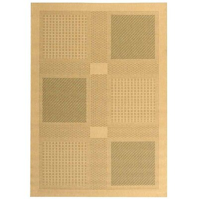Short Natural / Olive Outdoor Transitional Area Rug Rug Size: Rectangle 4 x 57