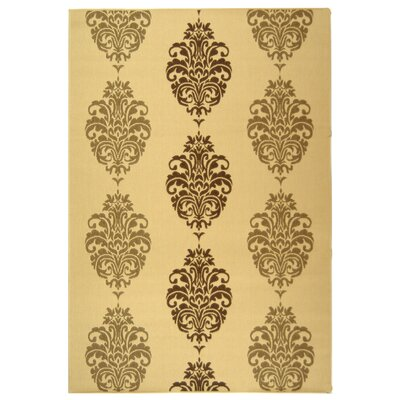 Short Natural/Brown Power Loomed Outdoor Rug Rug Size: Rectangle 53 x 77