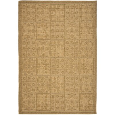 Short Gold Outdoor Rug Rug Size: Rectangle 9 x 126