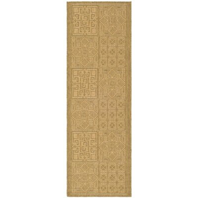 Short Gold Outdoor Rug Rug Size: Runner 24 x 67