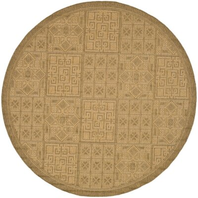 Short Gold Outdoor Rug Rug Size: Round 67